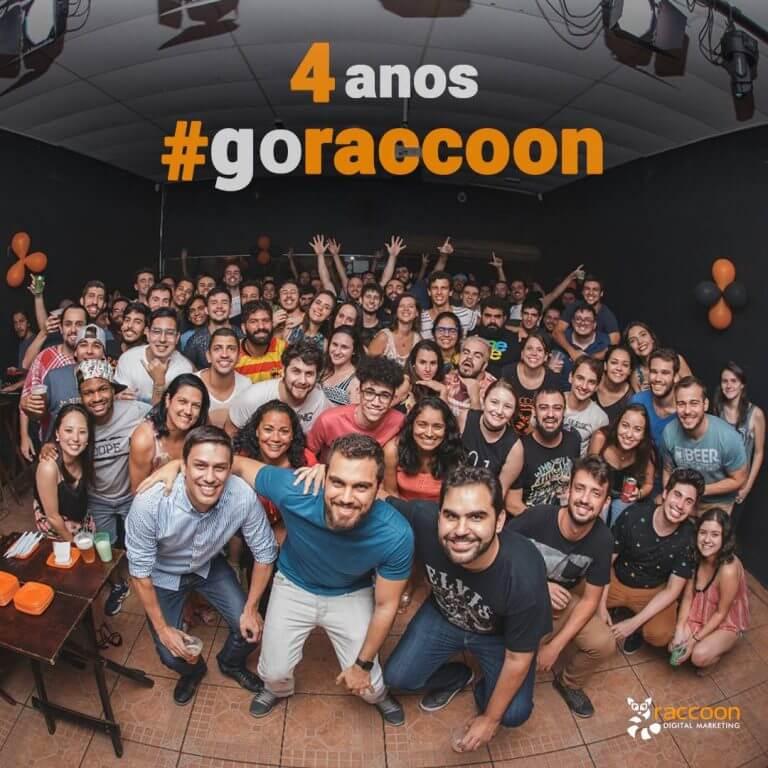 Melhor agência de performance Raccoon 4 anos