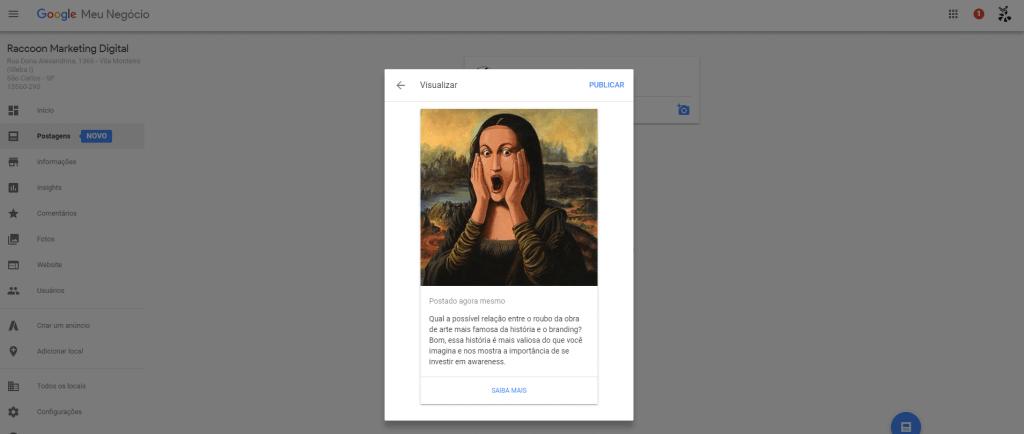 Google lança postagens para o Google Meu Negócio: mas será que vale a pena? Passo Final