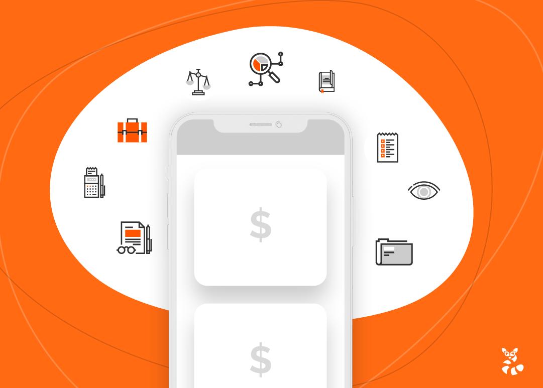 celular indicando um e-commerce