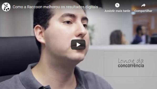 print de um vídeo do canal da Raccon, em que um homem fala sobre como melhorar os resultados digitais
