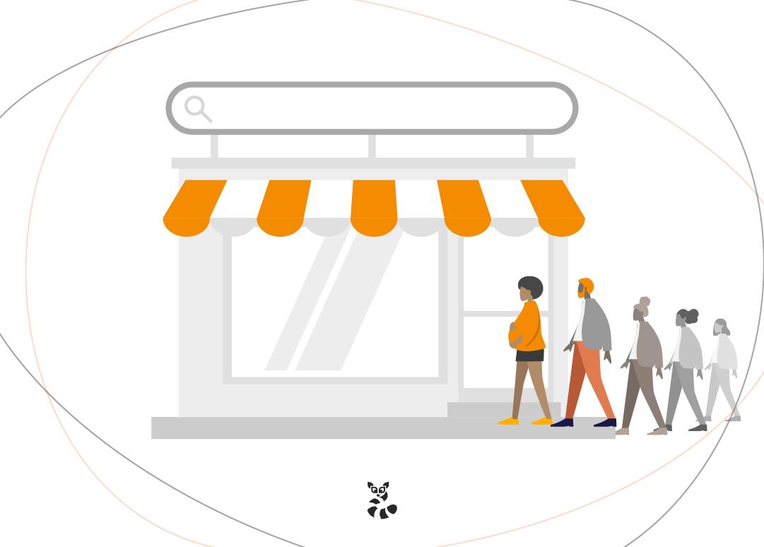 imagem indicando lojas online