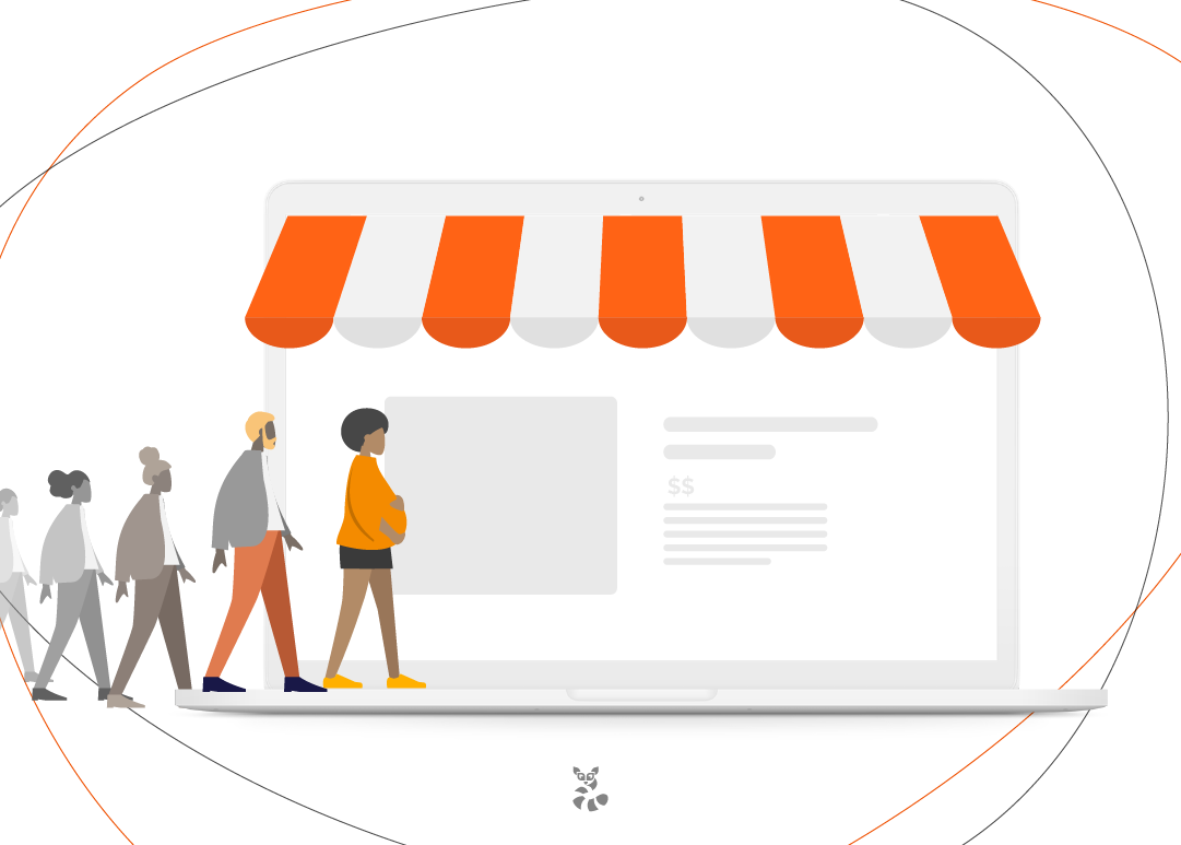 loja indicando aumento nas vendas, após o uso do remarketing