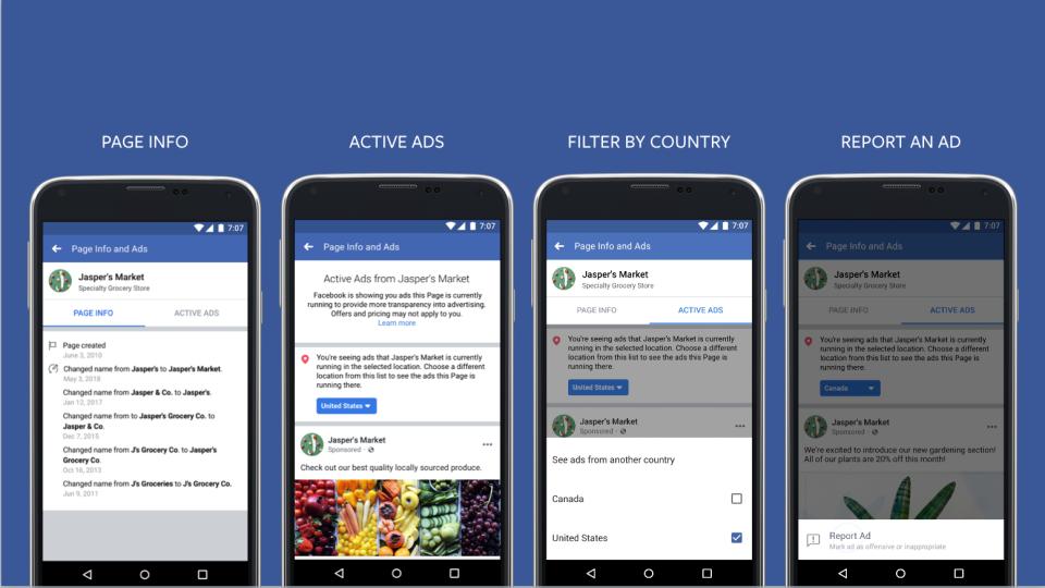 Facebook aumenta transparência dos Ads de todos os anunciantes, especialmente anúncios políticos no Brasil