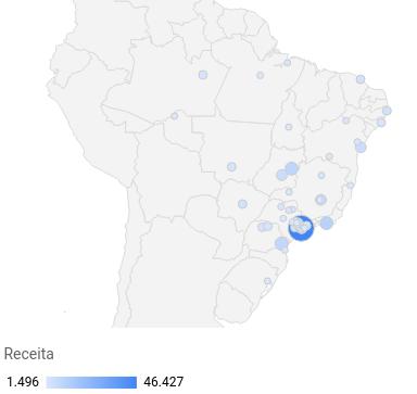 exemplo de mapa geográfico