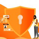 Imagem de uma mulher analisando dados para garantir a segurança da informação em uma empresa