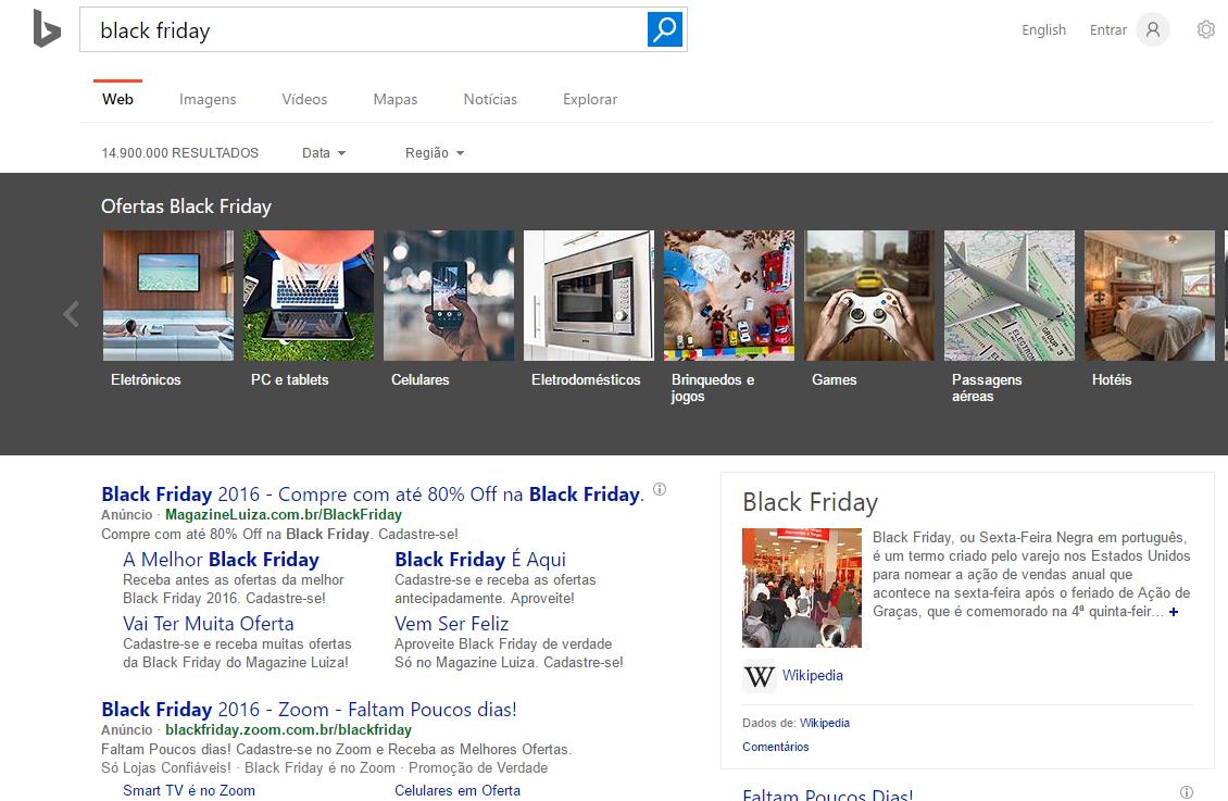 Bing Ads: mais resultados para seu negócio - inclusive na Black Friday
