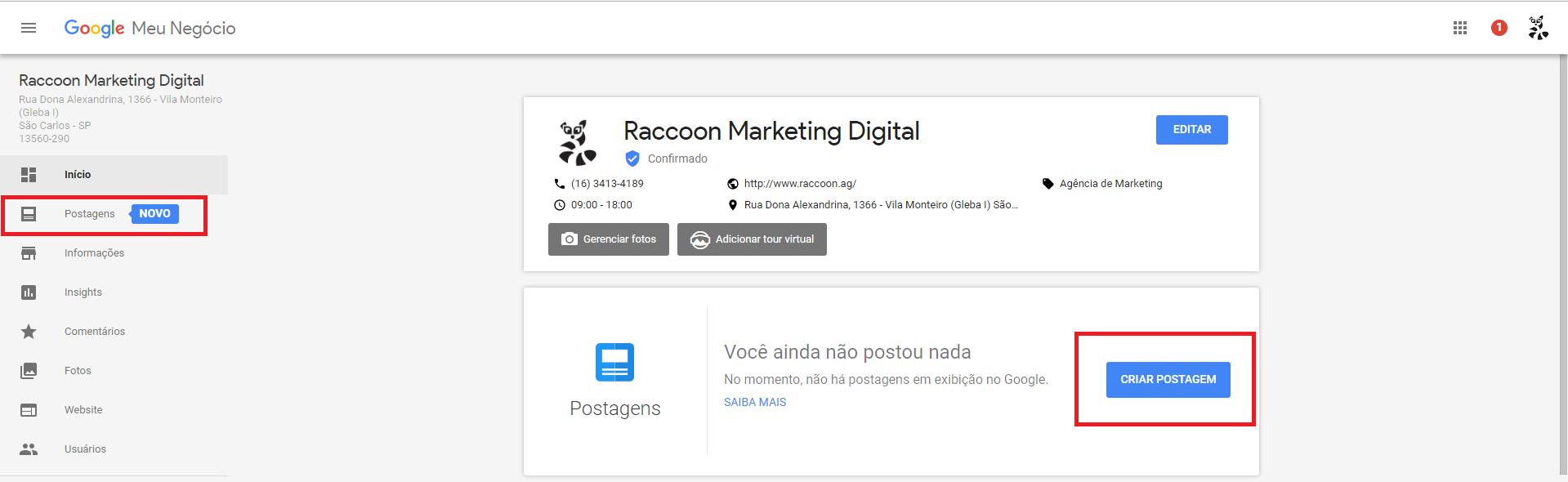 Google lança postagens para o Google Meu Negócio: mas será que vale a pena? Passo 1