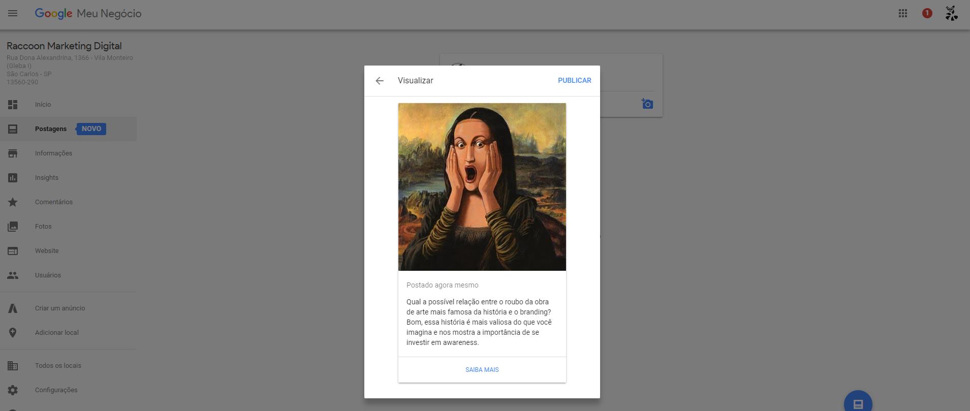 Google lança postagens para o Google Meu Negócio: mas será que vale a pena? Passo 4